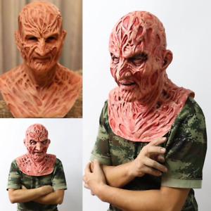 Freddy Krueger Mask Adults Fancy Dress Theme Costume Party movie cosplay latexv
