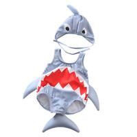 2PCS Kids Baby Boys Girls Shark Swimsuit Swimwear Rash Guard Costume Beachwear