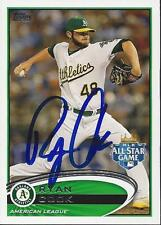 Ryan Cook Oakland Athletics All Star Game 2012 Topps Update Signed Card