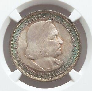 1893 NGC MS67 Edge Toned Columbian Expo Commemorative Silver Half Dollar GEM
