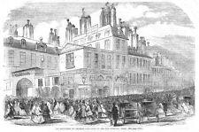 Parigi ESPOSIZIONE DI Imperial BABY Biancheria in rue Vivienne-antica stampa 1856