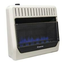 Large Room Blue Flame Wall Heater Vent-Free Dual Fuel 30K BTU Thermostat Control