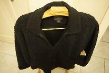 Woolrich faux shearling fur black charcoal zip jacket  womans exta large coat