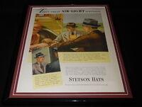 1937 Stetson Hats Framed 11x14 ORIGINAL Vintage Advertisement