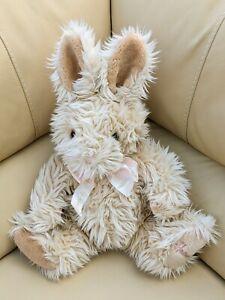 Harrods Signature Bunny Rabbit Soft Stuffed Toy Plush Cuddly Teddy Cream Pink