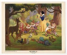 Snow White, GOOD FRIENDS, ALL! - NEAR MINT Lithograph from 1947 Walt Disney