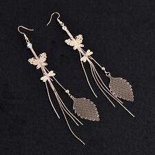 Women's Girls Rhinestone Long Tassel Dangle Earrings Thread Fringe Drop Earrings