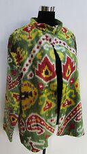 Hand Loomed Silk Velvet Turkish Ottoman Ikat/Suzani Jacket/Coat Sz L