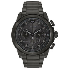 Citizen Eco-Drive Men's Ecosphere Chronograph Black Band 48mm Watch Ca4184-81E