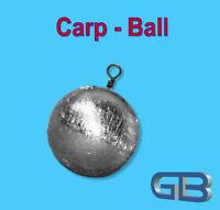 Carp-Ball 80g, 100g, 120g, 140g  Kugelblei mit Wirbel,  Rundblei Grundblei.
