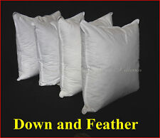 SCATTER FEATHER DOWN CUSHIONS INSERTS X 4  -  50 X 50CM 15% DUCK DOWN SALE