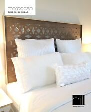 MOROCCAN TIMBER Bedhead / Headboard for King Ensemble - COCO