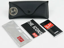 NEW Ray-Ban Slim Leather Sunglasses Travel Case With Cleaning Cloth