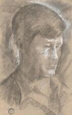 MALE PORTRAIT IMPRESSIONIST Pastel Drawing c1950 SICKERT Pupil FRANK GRIFFITH