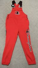 New Champion Super Fleece 3.0 Overalls Sweatpants Size Large Red