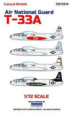 Caracal Decals 1/72 LOCKHEED T-33A SHOOTING STAR Air National Guard Units