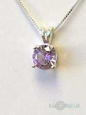 925 Sterling Silver pendant Monosital Color change 1 ct. Chain Necklace Jewelry