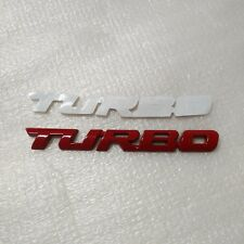TURBO Turbocharged RED Tail car logo 3D stereo stickers car stickers sports