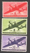 US. C25, C26, C27. Transport Plane, Lot of 3. MNH.