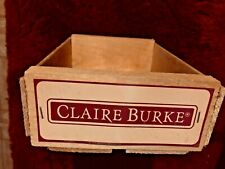 "Claire Burke wood box 10.5"" x 7.25"" x 3.25"" empty"