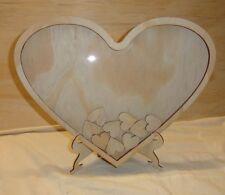 Wedding Heart shaped wooden Guest Books Guest Drop Box Signature Frames 70