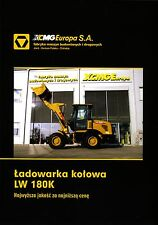 XCMG LW180K 2015 catalogue brochure loader chargeuse