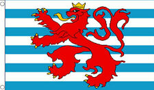 LUXEMBOURG LION FLAG 5' x 3' Civil Ensign Red Crest Coat of Arms Europe European