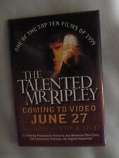 Talented Mr. Ripley Pin Back Movie Video Store Promotional June 27 1999 Button