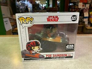 Funko POP! Deluxe Star Wars Smuggler's Bounty POE DAMERON with X-Wing #227