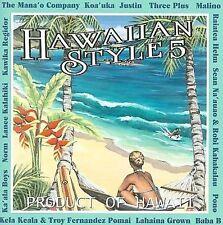 VARIOUS - Hawaiian Style, Vol. 5 CD, 2008 Neos V105; Robi Kahakalau, Mana'o Co.