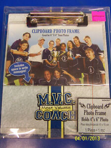 Most Valuable Coach Sports Party Favor Gift Deluxe Picture Clipboard Photo Frame