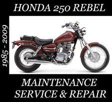 motorcycle atv manuals literature ebay rh ebay com 1986 Honda Rebel 250 1985 Honda Rebel 250 Stator