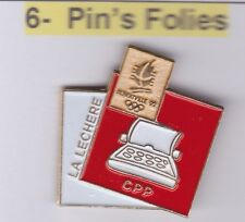 Pin's Folies Badge Albertville Olympic games 1992 La lechère Presse ecrite Media
