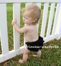 Baby Black Pettiskirt Ruffles Panties Bloomers 6m - 3Y