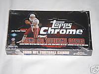 1999 Topps Chrome Football Hobby Trading Card Box
