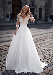 Pancy Sample Wedding Dress, UK20
