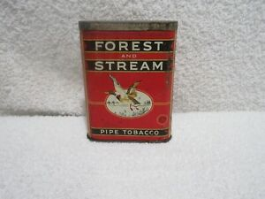 vintage Forest and Stream pocket tobacco tin lot A