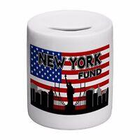 America New York Holiday Fund Skyline Novelty Ceramic Money Box