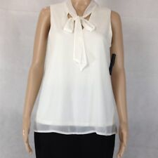 AB STUDIO CREAM CHIFFON TANK TOP Tops BLOUSE -Small