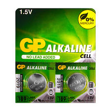 2 x GP Alkaline 189 batteries 1.5V LR54 AG10 389A LR1130 A120 Button cell EX2019