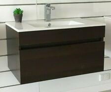 Dark Oak MDF Wall Hung Drawer Bathroom Vanity cabinet 750mm Clearance