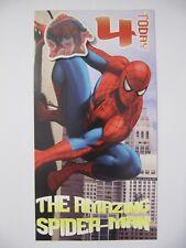 Job lot lot de 6 spider-man 4 aujourd' hui 4th Birthday cartes de voeux & Insignes