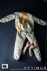 Onesixthkit 1/6 Scale Prisoner Outfit Set With Highly Detail Bare Feet