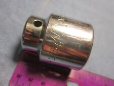 "(R-1) NICE MAC 1 1/8"" SOCKET. 1/2"" DRIVE. 6 POINT SHALLOW. OAL 1 3/4"". V366"