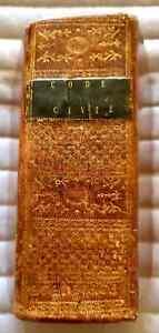C1 NAPOLEON - CODE CIVIL 1804 Toulouse RELIE Plein CUIR d epoque RARE