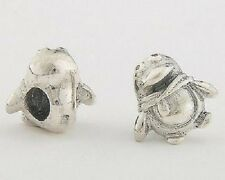1 Solid Sterling Silver 925 European Penguin with Scarf Bead for Charm Bracelet