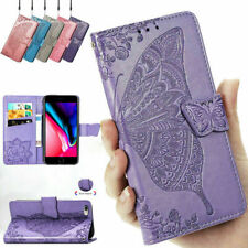 Butterfly Leather Phone Case Card Wallet Flip Cover For iPhone 11 7 8+ 6s XS Max