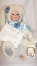 """American Artists Collection By Kais 1985 Little Bunny Blue 19"""" Porcelain Doll"""