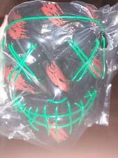 Green Neon Light Mask