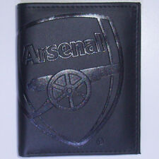 OFFICIAL ARSENAL FC FOOTBALL CLUB CREST EMBOSSED MONEY WALLET NEW
